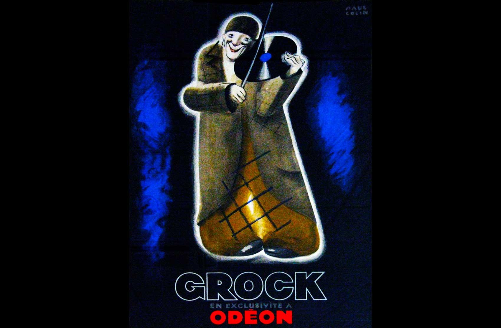 Affiche per la realizzazione di una copertina dei dischi Odeon · Collezione privata Dr Alain Frère