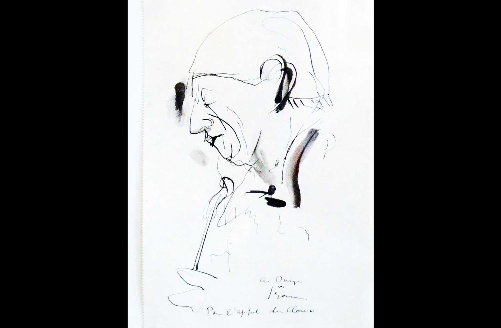 Disegno raffigurante Grock · Collezione privata Dr Alain Frère